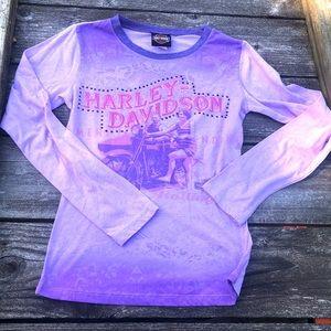 Harley Davidson l/s purple shirt women's small